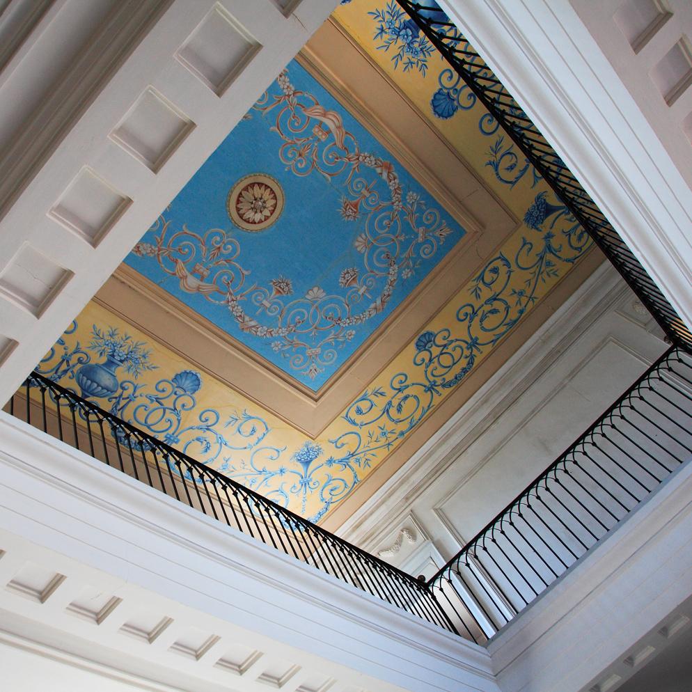 Galerie-Resort-plafond-peinture-chateau-lavagnac